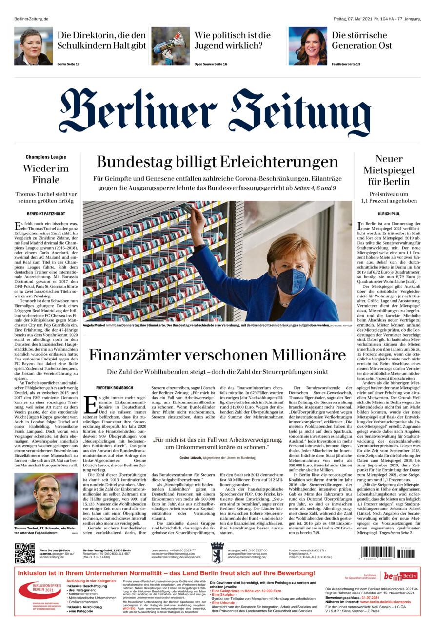 Berliner Zeitung vom Freitag, 07.05.2021
