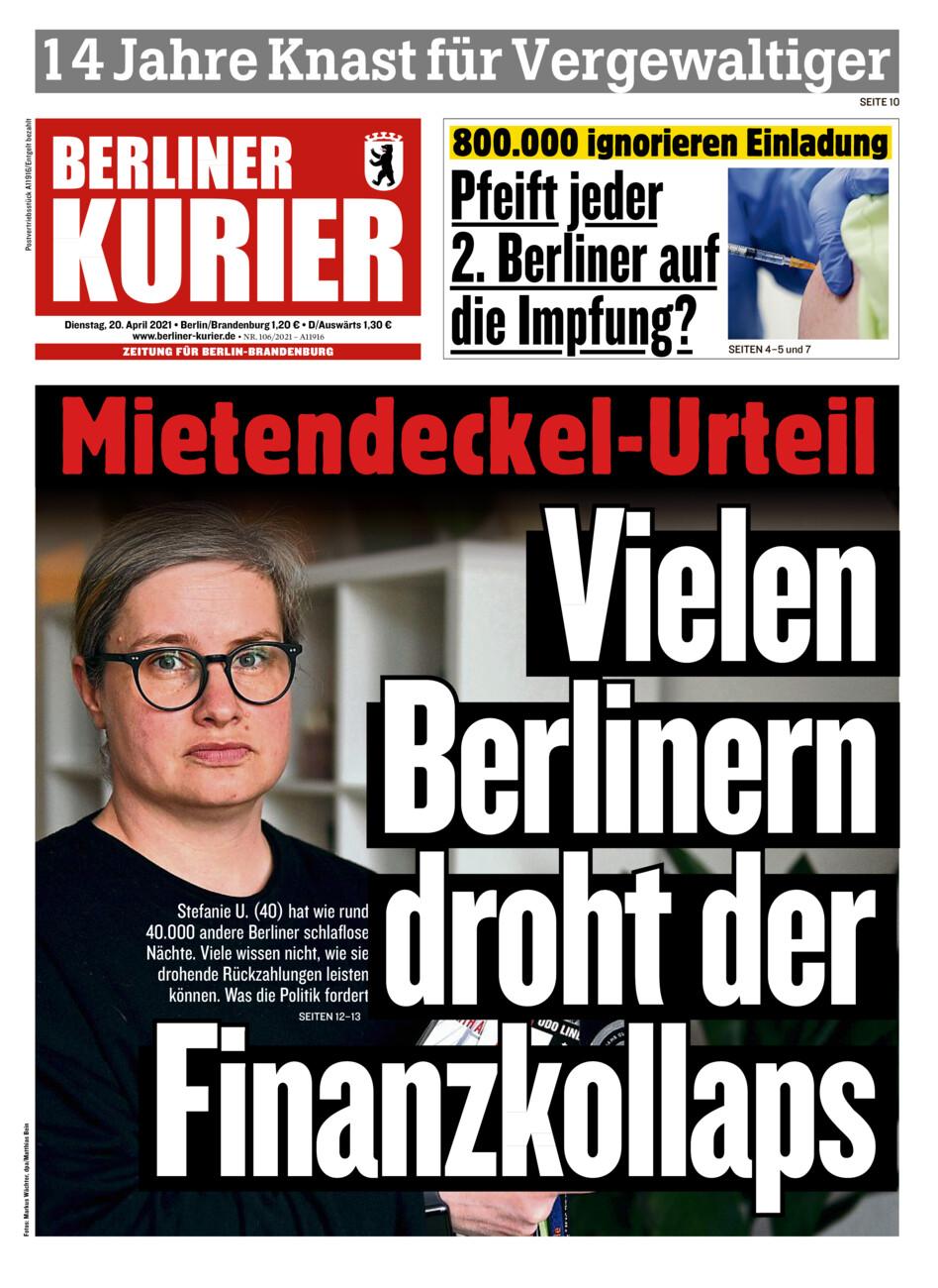 Berliner Kurier vom Dienstag, 20.04.2021