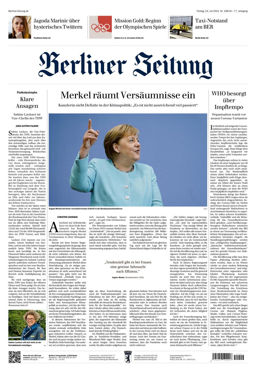 Berliner Zeitung vom Freitag, 23.07.2021