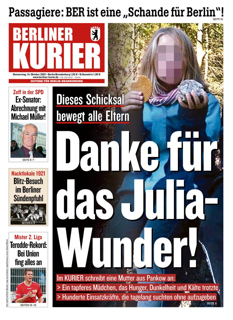 Berliner Kurier vom Donnerstag, 14.10.2021