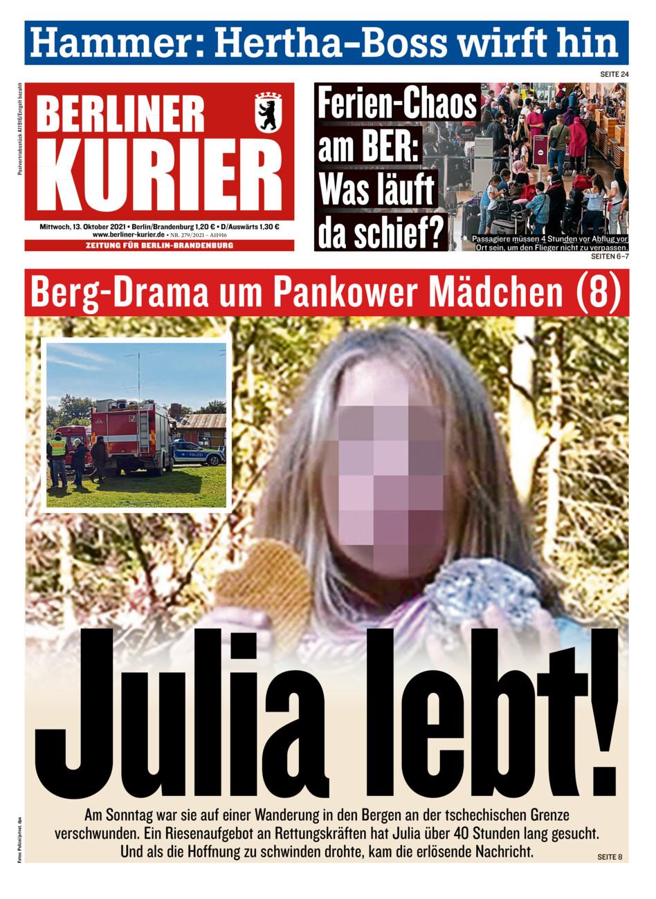 Berliner Kurier vom Mittwoch, 13.10.2021