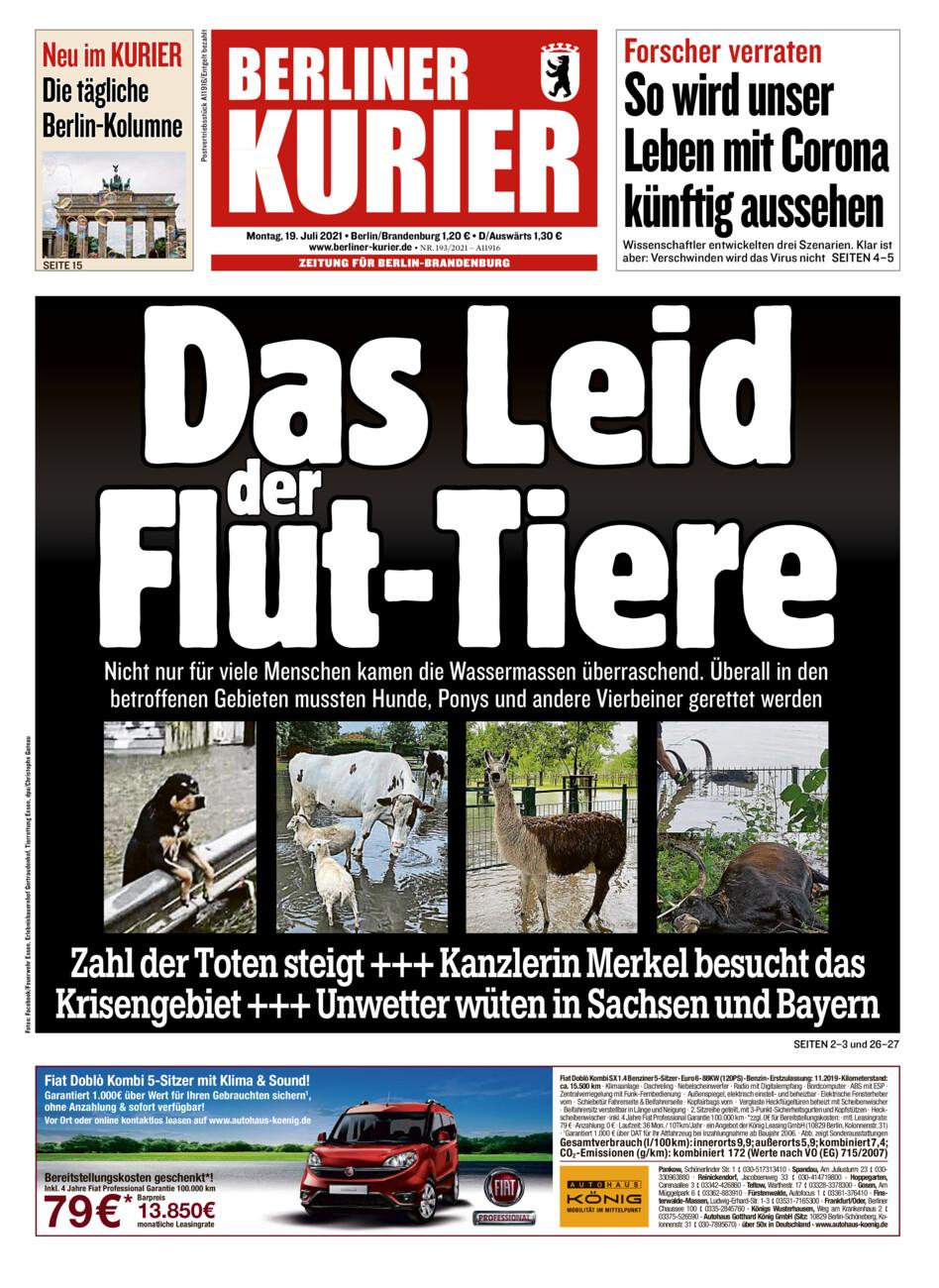 Berliner Kurier vom Montag, 19.07.2021