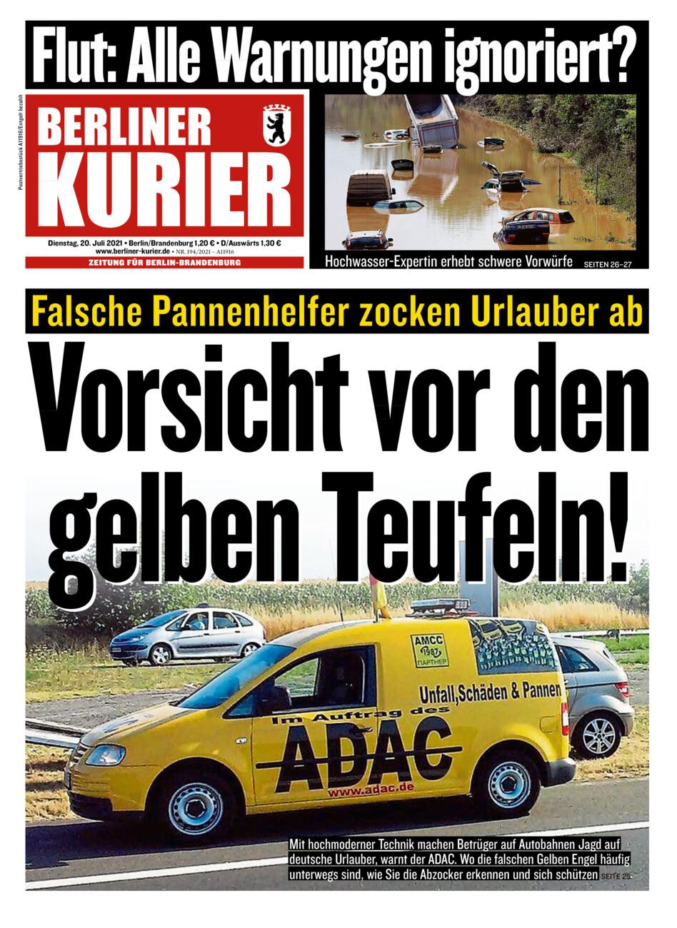 Berliner Kurier vom Dienstag, 20.07.2021