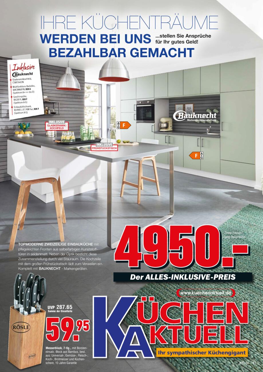 Küchen Aktuell vom Montag, 05.07.2021
